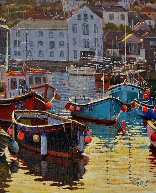 Tony Forrest - High-tide-at-Mevagissey