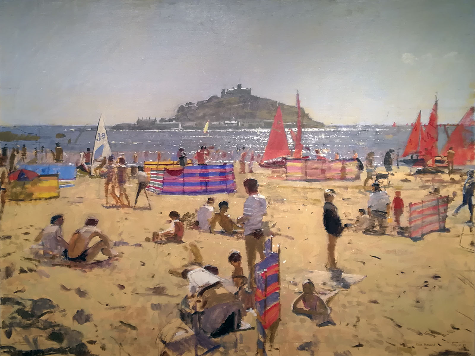 Ken Howard - Marazion with St Michael's Mount, Cornwall