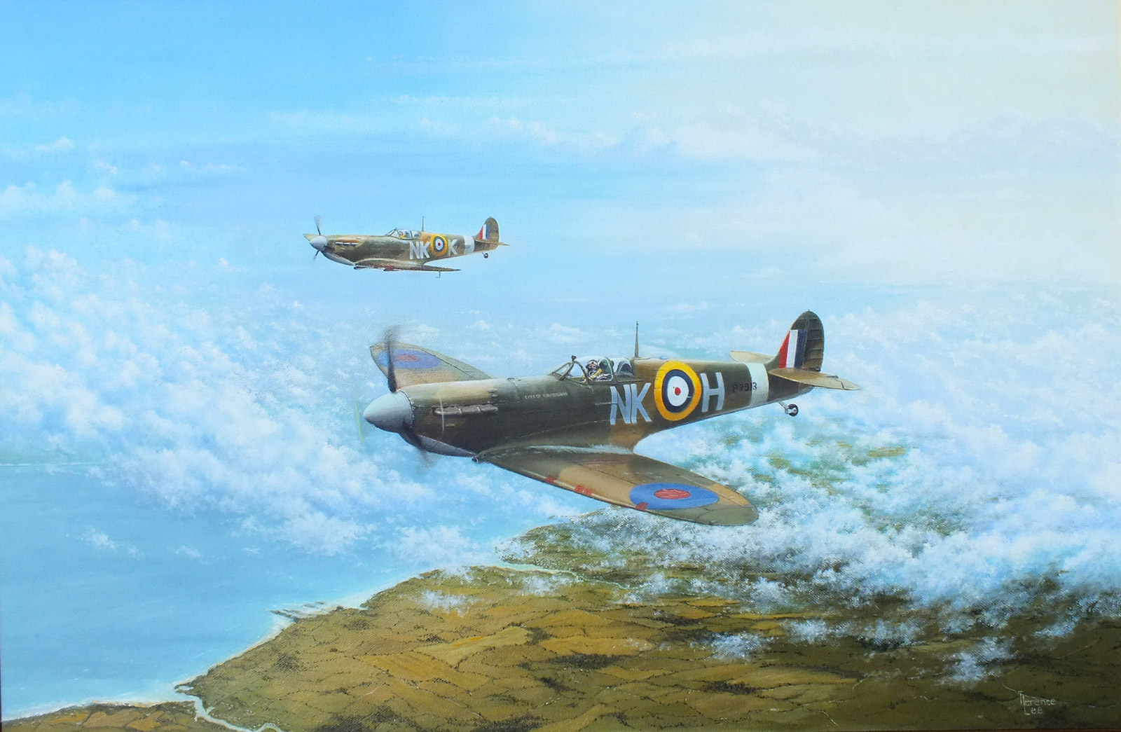 Terence Lee - Spitfires over the south coast