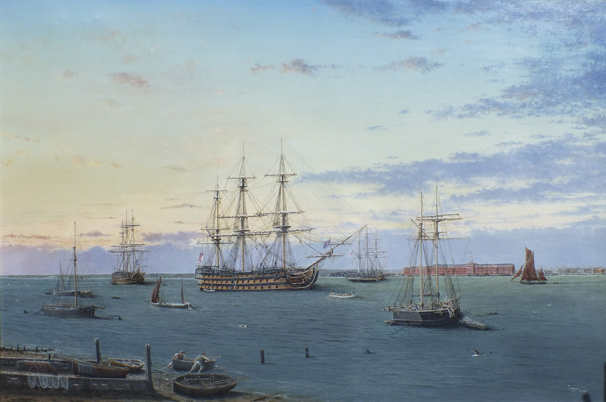 Terence Lee HMS Victory at Portsmouth November 1812