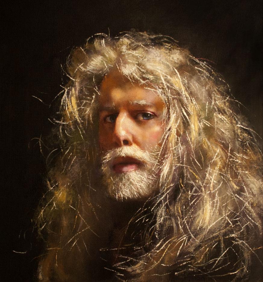 Robert Lenkiewicz - Self-Portrait-at-the-House-Studio