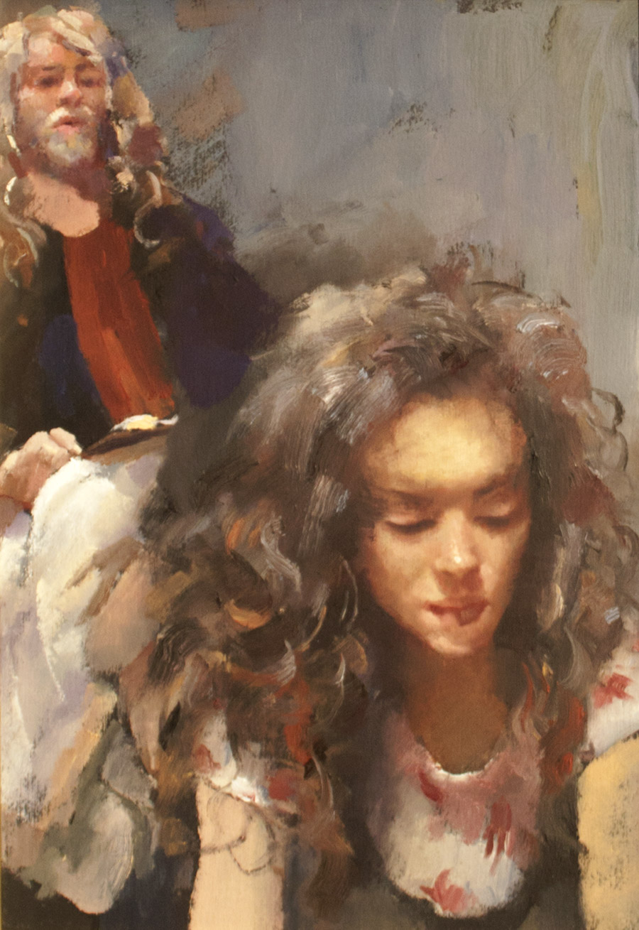 Robert Lenkiewicz - Study, Rober with Anna, Project 18