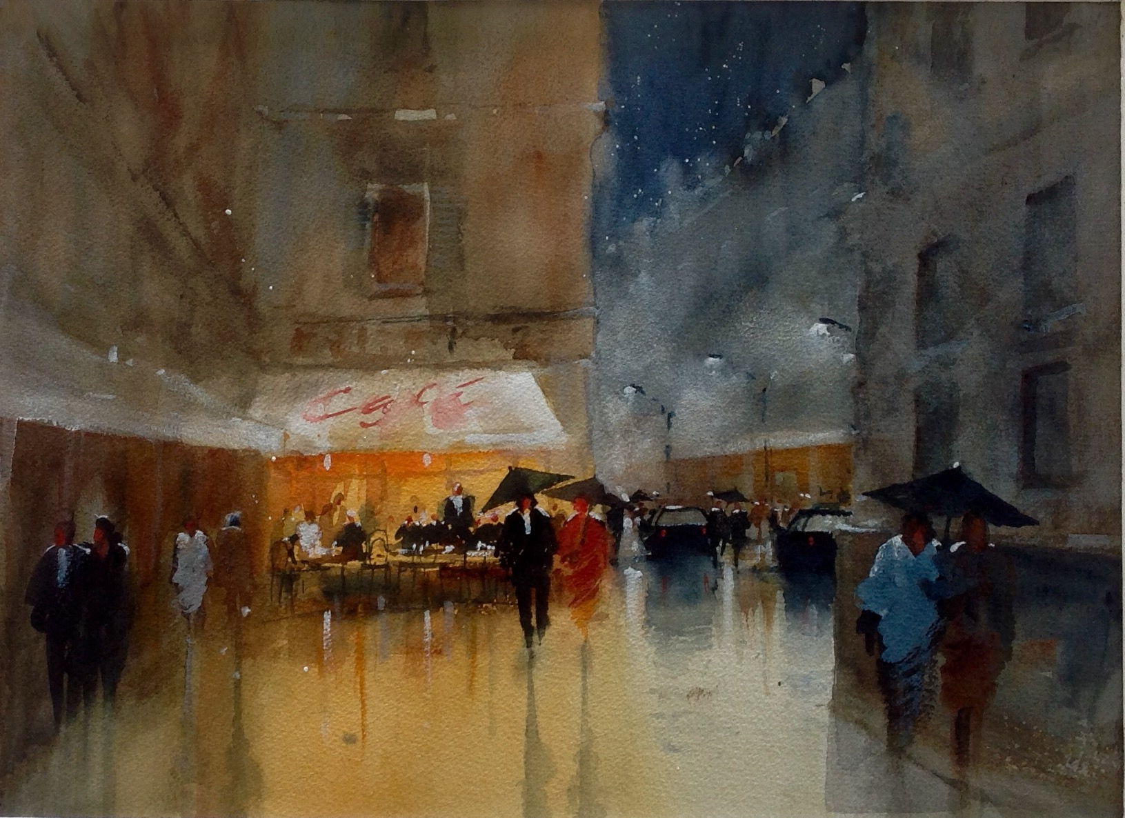 David Norman Late Drinks on a Wet Evening